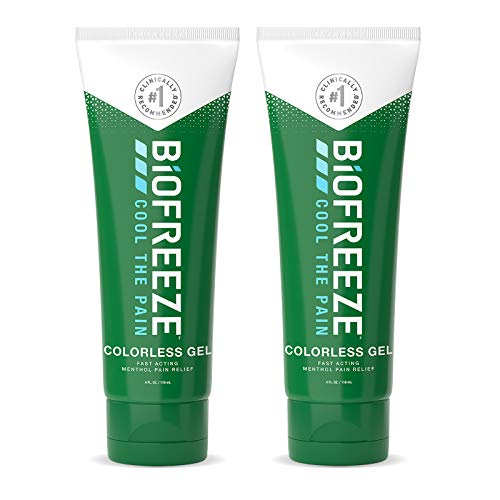 Biofreeze Pain Relief Gel, 4 oz. Tube, Colorless, Pack of 2 (Packaging May Vary)