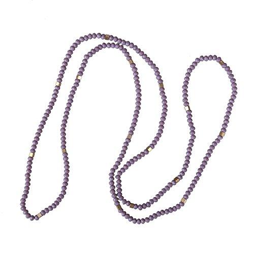 C·QUAN CHI 2021 Nouveau Collier De Perles De Cristal Noué à La Main Collier De Charme D'amitié Déclaration Collier De Brin Longue Chaîne pour Les Femmes