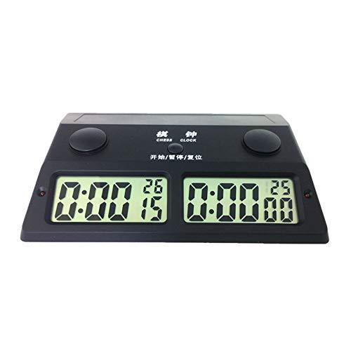Digital Chess Clock-Top Calidad Profesional Reloj de ajedrez Digital electrónico para el Juego de ajedrez Cuenta Down Timer Torneo Play, para Juegos de Mesa competitivos,Negro