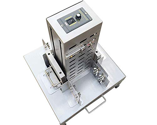 TZ® automatic chocolate shaving machine,electric chocolate slicers,Chocolate Chips Slicer Shaver Scraper Slicing Shaving Scraping Machine with knives stainless steel thickness adjustable (220V/50HZ, with two flower types)