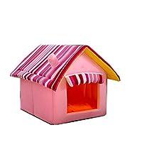犬 ベッド 猫 ベッド かわいい愛犬の一戸建て テント型ベッド 迷彩 被毛を保ちます 犬 猫 ベッドテントベッド ピンク S Mサイズ アイドッグ クッション マット ハウス ドーム ペットベット 犬のベッド 猫のベッド