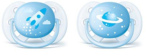 Chupete Philips AVENT Ultra soft, suave, 0-6meses azul Blau mit Motiv