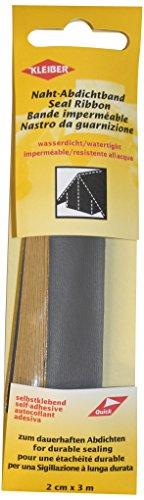 BERGER Kleiber 3 m x 2 cm Selbstklebendes, wasserdichtes, Stofffaser-Reparaturband für Zelte, Mäntel, Regenschirme usw, dunkelgrau