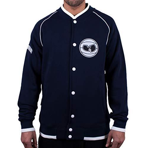 WU Wear Basketball Sweat-Jacket, Urban Streetwear Veste Ville, Hip Hop Blouson, Veste Homme, Navy Taille M, Couleur Navy