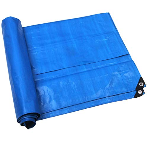 LYLSXY Lonas, Toldos Carpa Lona Blanco + Azul Gruesa Impermeable Anti-Envejecimiento Fácil de Plegar Suave Y Ligero Protector Solar Plástico Del Invernadero Hoja de Deportes Al Aire Libre 160G / M²,3