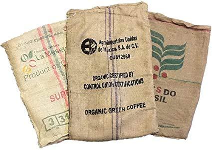 Caffè Manfredo Sacchi di Juta da Caffe\'- 70x100 cm, Confezione da 10 Pezzi