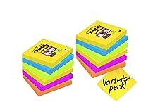 Vorrätig: Damit Ihnen die Post-it Super Sticky Notes nicht so schnell ausgehen, gibt es die praktischen Helfer im Vorratspack Praktisches Bürozubehör, Schule und Alltag: Post-it Klebeetiketten bringen Farbe in Ihr Büro, übermitteln Nachrichten für Ko...