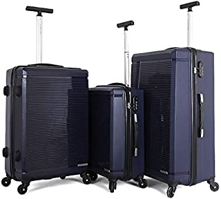 Giordano Hard Case Luggage Trolley Bags Set, 3 Pieces - 787122, Navy, Unisex