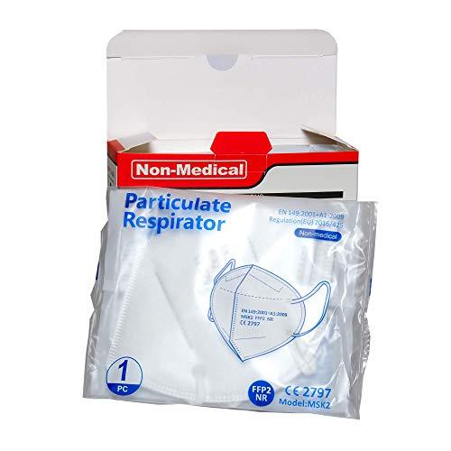 ISN mask2 - FFP2 / KN 95 Atemschutzmaske, staubdicht, einzeln verpackt - Atmungsaktive 5-Lagen-Maske CE-zertifiziert -10er Packung. - 3