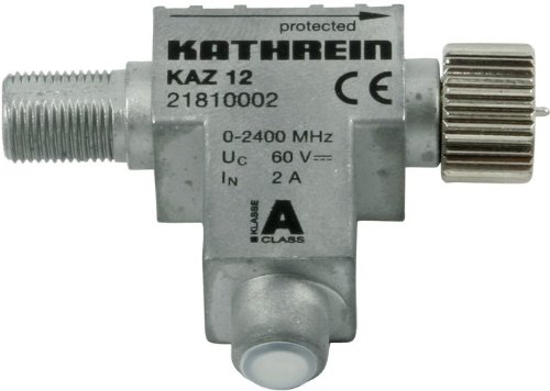 Kathrein Kaz 12 Blitzstromableiter (F-Connector HF-Anschluß) 0-2400 MHz