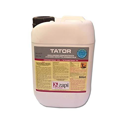 Zapi Expert TATOR 5 Litri insetticida Insetti Volanti e striscianti Cipermetrina Tetrametrina zanzare, Mosche, vespe, tignole, flebotomi, blatte, formiche