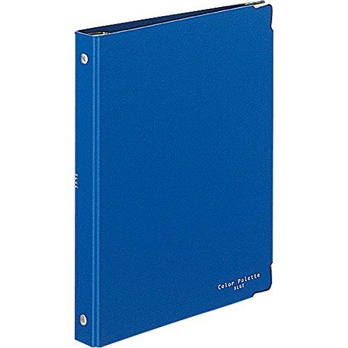 コクヨ バインダー ノート カラーパレット A5 20穴 最大100枚 青 ル-105-3Z