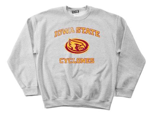 NCAA Iowa State Cyclones 50/50 Blended 8oz Vintage Maskottchen Rundhalsausschnitt Sweatshirt, Herren, Grau - Sport Grey, Medium