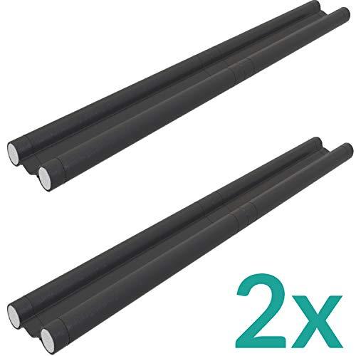 Zugluftstopper für Türen 2er Set in Schwarz - Zuschneidbar - Doppelseitige Schutz vor Zugluft - Türdichtung