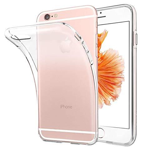 Eiselen Hülle Kompatibel mit iPhone 6 und iPhone 6s, Weiche Silikon Ultra Dünn TPU Bumper Anti-Kratzer Anti-Gelb Schock-Absorption Handyhülle Schutzhülle für iPhone 6 und iPhone 6s - Klar
