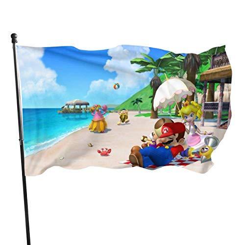 BHGYT Spiel Super Mario Flags Große Flagge Anti Fading für Ösen Haus Dekor Outdoor Flagge Dekor Outdoor 3 x 5 Garten Flagge Garten Saisonale und Yard Flag Banner 3 X 5 Fuß