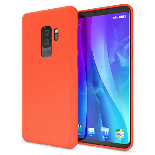 NALIA Handyhülle kompatibel mit Samsung Galaxy S9 Plus, Ultra-Slim TPU Silikon Neon Case, Dünnes Cover Gummi Schutzhülle Skin, Etui Handy-Tasche Backcover Smartphone Bumper, Farbe:Orange