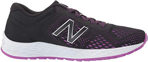 New Balance Women's Fresh Foam Arishi V2 Running Shoe, Black/Voltage Violet/Silver Metallic, 5 M US