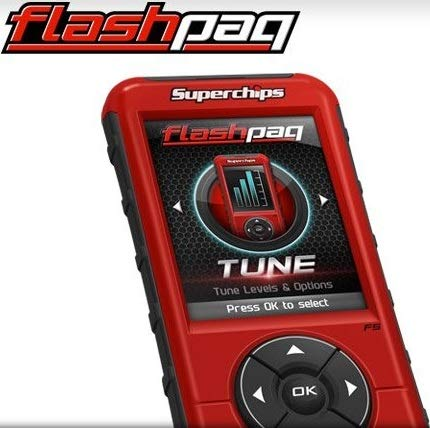 NEW SUPERCHIPS FLASHPAQ F5 IN-CAB TUNER,COMPATIBLE WITH 1998-2016 CORVETTE,F-150,MUSTANG,RAM 1500