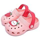 Toddler Clogs Boys Girls Cartoon Unicorn Dinosaur Clog Kids Cute Garden Shoes Slides Sandals Children Beach Slipper Slip On Shoes (Pink-Bunny, Numeric_5)