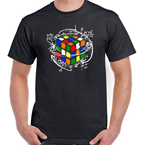 Di Rubik Cubo T Shirt Uomo Divertente Retrò 80'S Sheldon Puzzle Cooper Equations