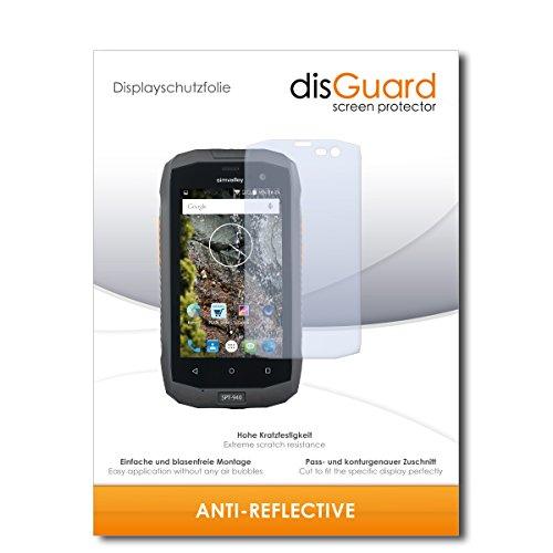 disGuard® Bildschirmschutzfolie [Anti-Reflex] kompatibel mit Simvalley Mobile SPT-940 [4 Stück] Entspiegelnd, Matt, Antireflektierend, Extrem Kratzfest, Anti-Fingerabdruck - Panzerglas Folie, Schutzfolie