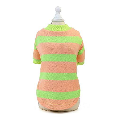 strimusimak - Suéter de lana suave para perro, de punto para gatos, mascotas, ropa para disfraz de Navidad, color rosa S