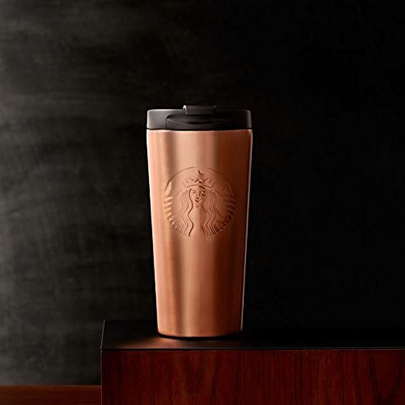 Starbucks Embossed Siren Tumbler Apricot 16 Fl Oz