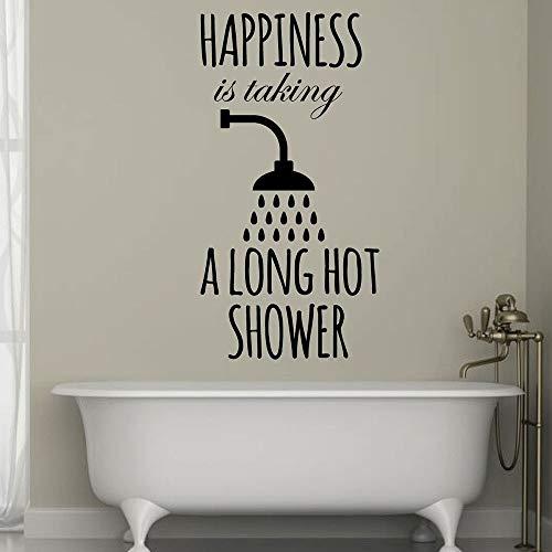 La felicidad de la decoración del baño es tomar un papel tapiz de vinilo de baño caliente largo
