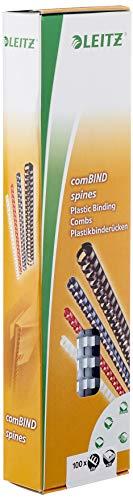 Leitz Plastikbinderücken (A4, Kunststoff, 6 mm, 25 Blatt) 100 Stück weiss