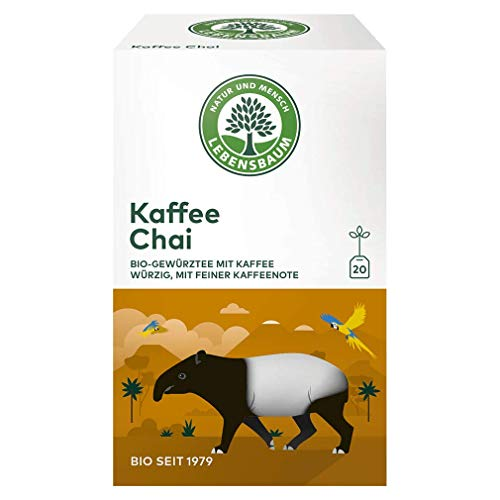 Lebensbaum Wanderlust Im Teebeutel - Einzeln Kuvertiert - Kaffee Chai, 40 g 1 x 20 Btl