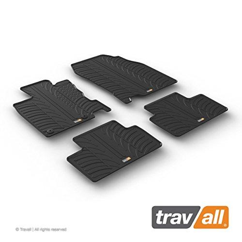 Travall Mats Tapis de Voiture Compatible avec Renault Kadjar (2015 et Ulterieur) TRM1262 - Tapis de Sol en Caoutchouc sur Measure