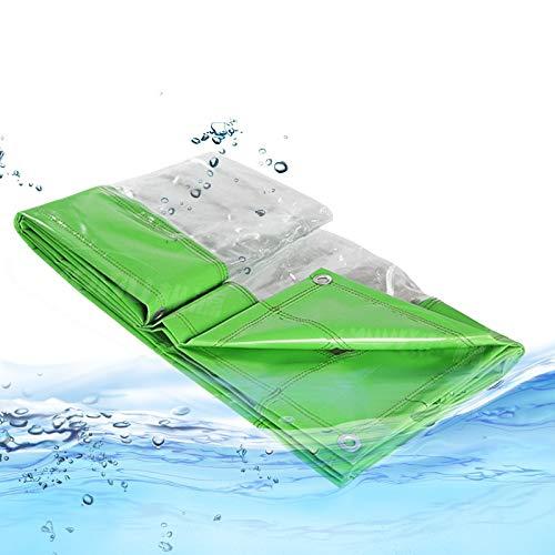 Lona MYAN Impermeable, Toldo Transparente Al Aire Libre Claro Cortina Resistente Al Clima para Pérgola, Porche, Kiosko, Cabaña (Color : Clear, Size : 2M X 6M)