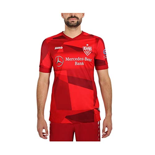 JAKO Herren VfB Stuttgart Away Trikot, rot, L