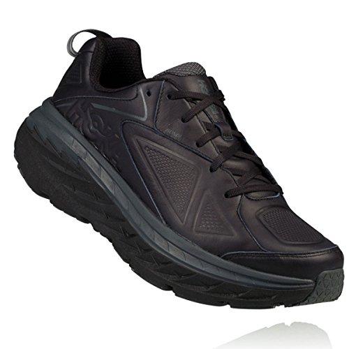 HOKA ONE ONE Mens Bondi Leather Black Running Shoe - 11