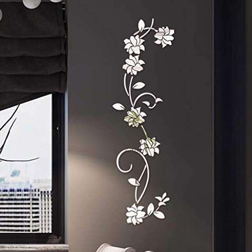 Buy Bargain Ugood 2019 Hot 1PC 3D Diy Flower Shape Acrylic Wall Sticker Modern Stickers Decoration (...