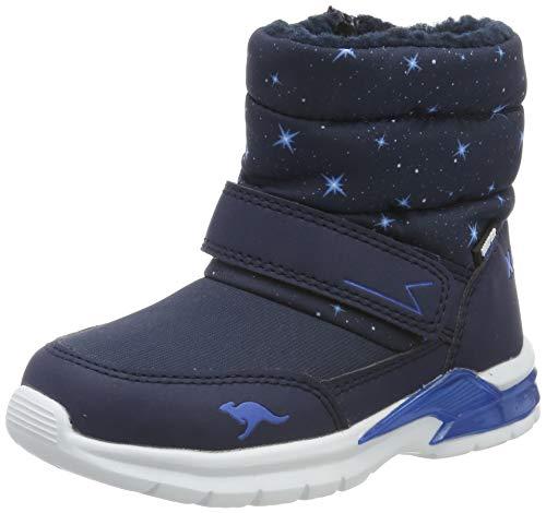 KangaROOS Unisex-Kinder Icerush SL Schneestiefel, Blau (Dk Navy/Brilliant Blue 4206), 34 EU