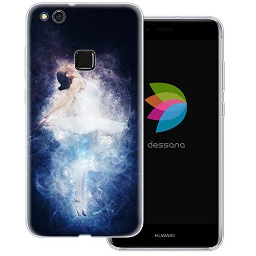 dessana Ballet transparante beschermhoes mobiele telefoon case cover tas voor Huawei, Huawei P10 Lite, Ballerina