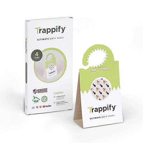 Trappify Universal Moth Traps with Pheromones: Adhesive Pantry Moth Trap for Clothes Closet Indian Meal Wheat and Other Common Moths  Home Kitchen and Clothing Pheromone Moth Killer 4