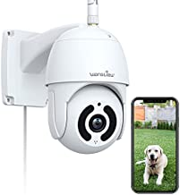 Security Camera Outdoor,Wansview 1080P Pan-Tilt Surveillance Waterproof WiFi Camera,Night Vision, 2-Way Audio,Motion Detection,SD Card Storage& Cloud Storage and Works with Alexa W9
