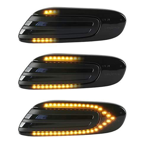 OZ-LAMPE LED Dynamische LED Seitenblinker Blinker 2 X Bernstein 36 SMD mit Nicht-Polarität CAN-Bus-Fehlerfrei OE-Buchse Rauch Für MINI COOPER F54 F55 F56 F57 2014-2020