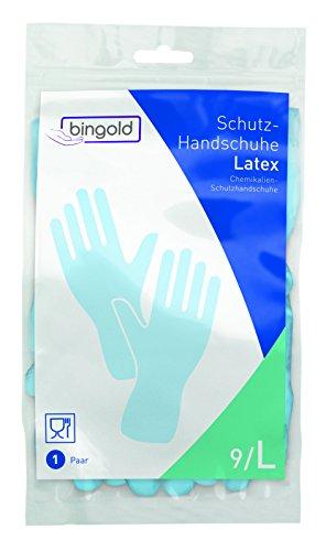 BINGOLD Paire de gants de protection en latex Bleu