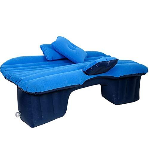 Guoziya Air Matelas Gonflable Voiture épaissie Lit Pliant Gratuit Matelas Camping Voyage en Plein air Repos Inflation Rapide Airbed, Flocage Surface (Couleur : Blue-A(Separate Design))