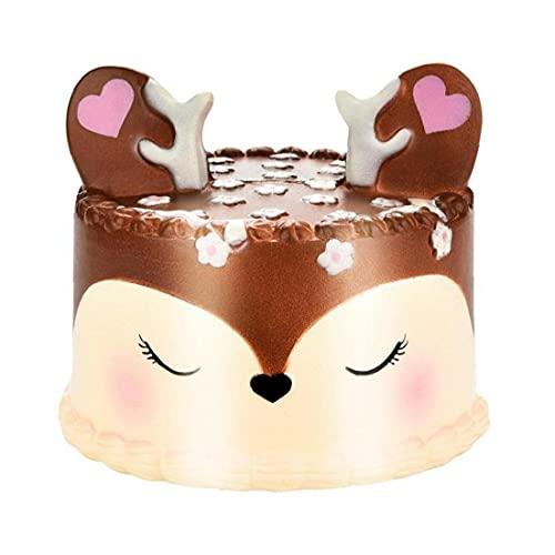 2018 más Nuevo Lenta Rising Jumbo Squishie, HEHEM 11cm Kawaii Unicorn Cake perfumado Encanto Blando Lento Aumento de Simulación niño de la Llave del teléfono Celular de Juguete