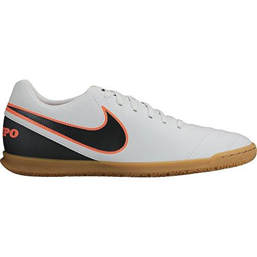 Nike Tiempo Rio III IC, Scarpe da Calcio Uomo, Bianco/Nero/Arancione (Pure Platinum Black Hypr Orng), 39 EU