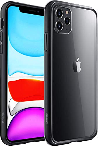 Mkeke Compatible with iPhone 11 Pro Case, Clear Anti-Scratch Shockproof Cases Cover for iPhone 11 Pro 5.8 inch-Black