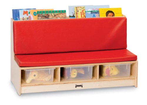 "Jonti-Craft 37480JC Literacy Couch, Red, 10"" - 12"""