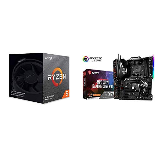 AMD Ryzen 5 3600X 6-Core, 12-Thread Unlocked Desktop Processor with Wraith Spire Cooler with MSI MPG X570 Gaming Edge WiFi Motherboard