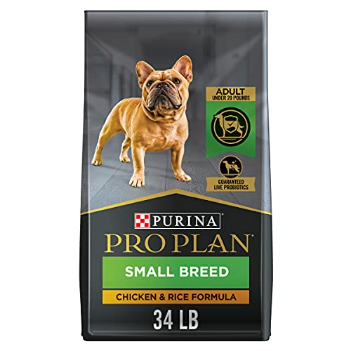 Purina Pro Plan Small Breed Dog Food With Probiotics for Dogs, Shredded Blend Chicken & Rice Formula - 34 lb. Bag