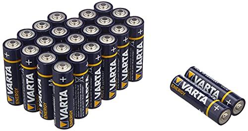 Varta Energy AA Mignon LR6 Batterie (24er Pack) Alkaline Batterie - Made in Germany - ideal für Spielzeug Taschenlampe und andere batteriebetriebene Geräte